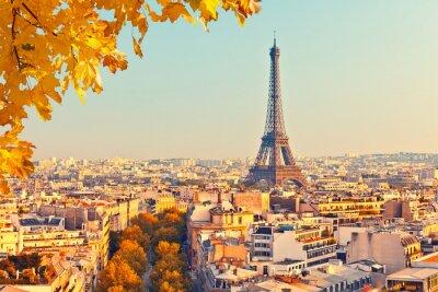 Cuadro Ver en la torre Eiffel al atardecer