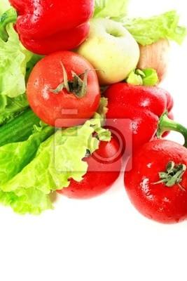 verduras de color rojo