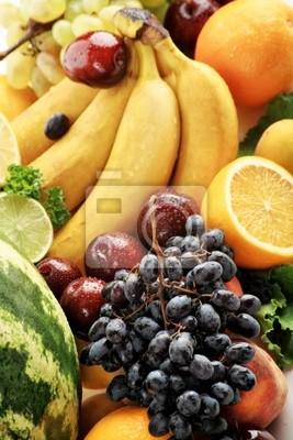 Verduras frescas, frutas y otros productos alimenticios.