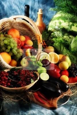 Verduras frescas, frutas y otros productos alimenticios. Enorme colección.