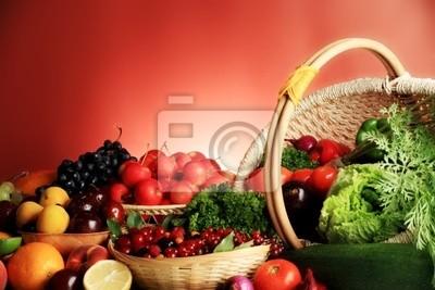 Verduras frescas, frutas y otros productos alimenticios. Enorme colección