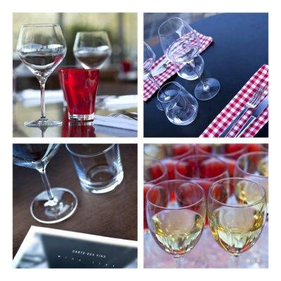 Cuadro Verre, verrerie, vin, mesa, cubierto, un bar, brasserie, cueva