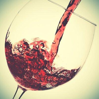 Cuadro Verter de vino tinto