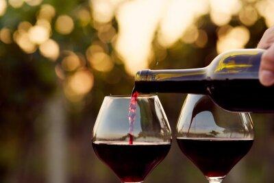 Cuadro Verter el vino tinto