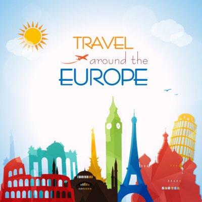 Cuadro Viaje alrededor del Europa