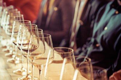 Cuadro Vidrio para la degustación de vinos
