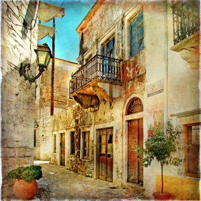 viejas calles pictóricos de Grecia