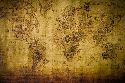 Cuadro viejo mapa