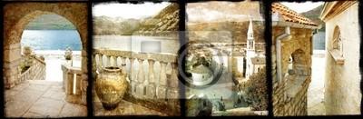 viejo Montenegro - collage de la vendimia