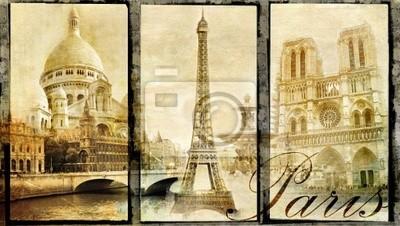 viejo París - collage de la vendimia