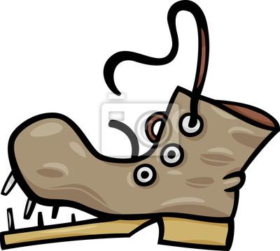 Cuadro Viejo Zapato O Bota Dibujos Animados Clip Art