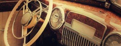 Cuadro Vintage car dashboard  (fragment)