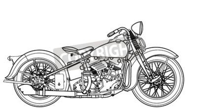 Cuadro Vintage de la motocicleta