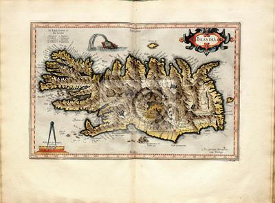 Cuadro Vintage mapa