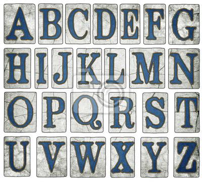 Cuadro Vintage New Orleans Calle Azulejos del alfabeto Colección