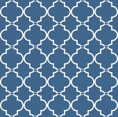 Cuadro Vintage patrón floral transparente