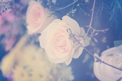 Cuadro Vintage subió fondo ramo de flores suave