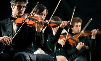 Cuadro Violín orquesta rendimiento