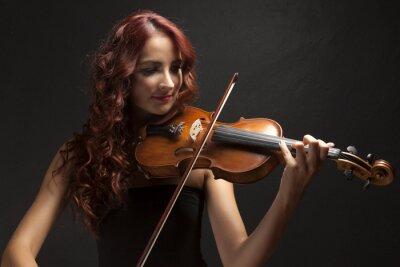 Cuadro Violinst Woman