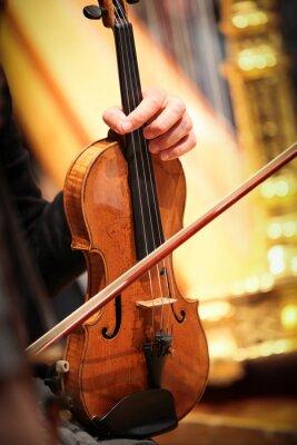 Cuadro Violonista a la música classique symphonique corde