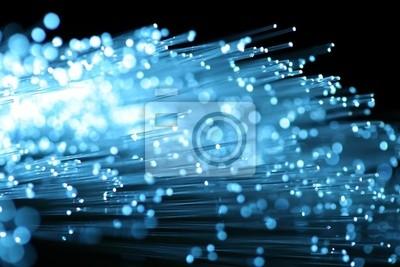 visión abstracta de la fibra óptica