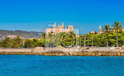 Vista a la catedral de Palma Mallorca España