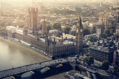 Cuadro Vista aérea de la ciudad de Londres