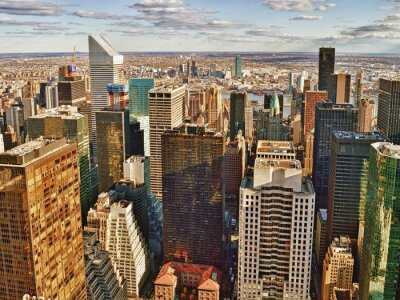 Cuadro Vista aérea de la ciudad de Nueva York.