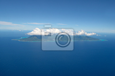 Vista aérea de la isla tropical de Moorea