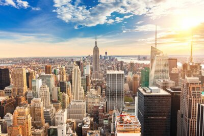 Cuadro Vista aérea de Manhattan