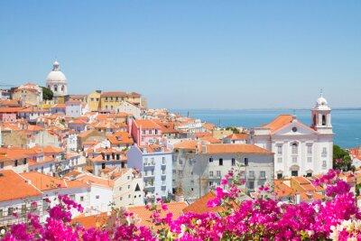 Cuadro vista de Alfama, Lisboa, Portugal