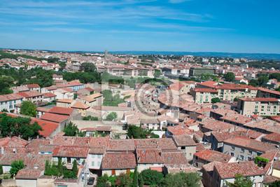 Vista de la ciudad de Carcassonne, Francia