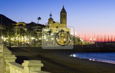 Vista del amanecer de Sitges