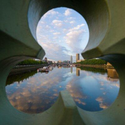 Cuadro Vista del río Támesis en Londres