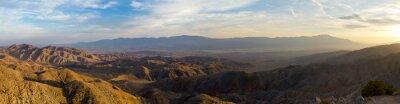 Cuadro Vista panorámica del paisaje del desierto