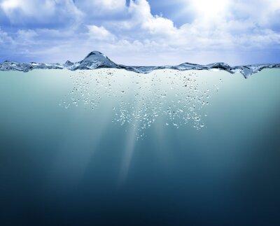 Cuadro Vista submarina con agua azul