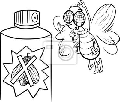 Volar y página para colorear repelente de insectos pinturas para la ...