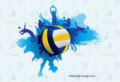 Cuadro Voleibol abstracto