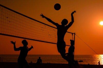 Cuadro Voleibol de playa silueta