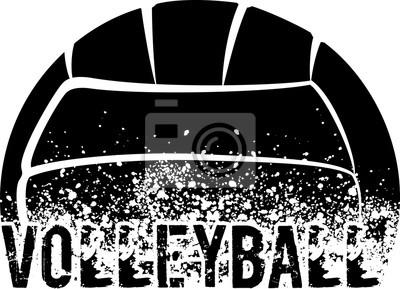 Cuadro Volleyball Dark Grunge