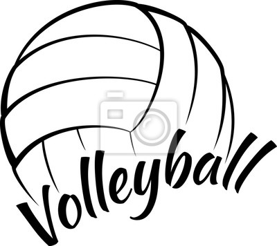 Cuadro Volleyball with Fun Text