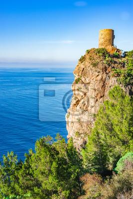 Wachturm Torre del Verger y el Mittelmeer Küste Mallorca Spanien