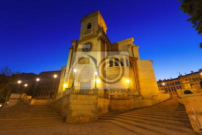 Wide angle shot of San Juan de Albacete  in dusk