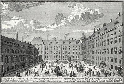 Cuadro Wien, Innerer Burghof um 1725, Kupferstichvorlage