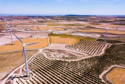 Wind farm near the town of La Muela, Spain
