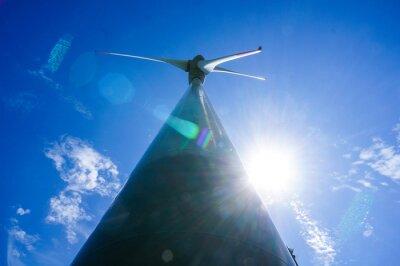 wind turbine against blue sky, in Norway Scandinavia North Europe