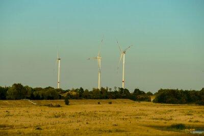 wind turbines in a field, in Sweden Scandinavia North Europe