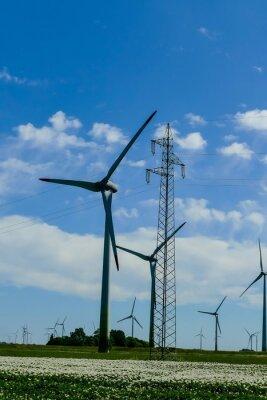 wind turbines in the field, in Sweden Scandinavia North Europe