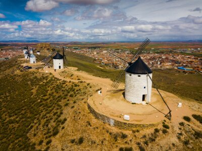Windmills and castle of Consuegra