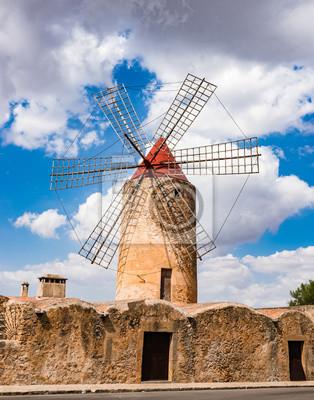 Windmühle Alt Traditionell Mallorca España